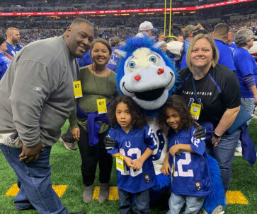 Family at Colts Game