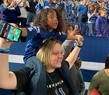 KJ and Tré at Colts Game